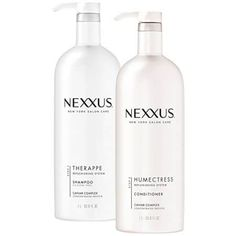 Nexxus Therappe Ultimate Moisture Shampoo plus Nexxus Humectress Ultimate Moisture Conditioner Combo Pack goes beyond moisture to restore nutrients to every strand. Therappe shampoo and Humectress con. Moisturizing Shampoo, Hair Shampoo, Dry Shampoo, Nexxus Hair Products, Good Shampoo And Conditioner, Hair Powder, Organic Shampoo, Best Shampoos, Dry Hair