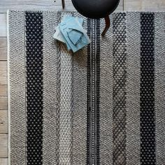 A range of patterns and textures are blended together to create the knitwear-inspired Melange Rug