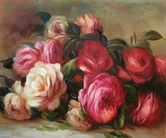 """Discarded Roses"" by Renoir placed 5th on overstockArt.com's 2014 Top 10 list. Hand painted reproductions are available in a variety of sizes at overstockArt.com. #art"