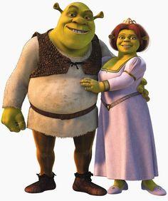 Shrek and Fiona (Shrek) (c) DreamWorks Animation & Universal Pictures Dreamworks Animation, Disney And Dreamworks, Caricatures, Shrek E Fiona, Princesa Fiona, Comic Book Characters, Disney Characters, Bee Movie, Walt Disney Pictures