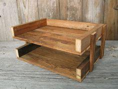 R E C L A I M E D  wood file tray desk file holder / by FORTRESSco, $28.00 @Niki Mangan