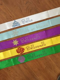 Disney Sashes Make Every Bridal Party Feel Like A Princess