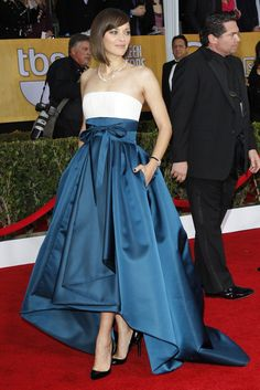 Marion Cotillard in Dior Haute Couture and Chopard on the SAG Awards Red Carpet (Photo by Donato Sardella)