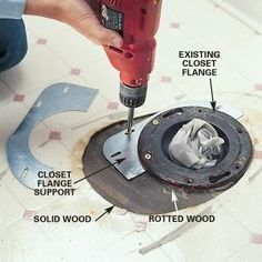For minor rot, a flange support is a quick fix