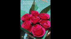 craft work /paper craft / How to make paper Rose Paper Roses, How To Make Paper, Craft Work, Paper Crafts, Make It Yourself, Watch, Youtube, Paper Craft Work, Clock