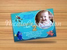 Finding Nemo Custom Photo Design Invitation - Digital File