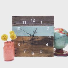 Hey, I found this really awesome Etsy listing at https://www.etsy.com/listing/104819677/reclaimed-pallet-wood-wall-clock
