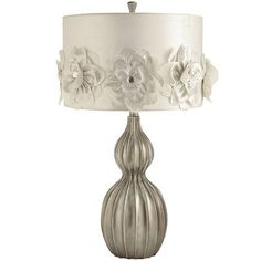 Rosette Hayworth Lamp - Smoke - the romantic and feminine charm lends itself to the Hollywood-inspired design - creating a captivating ambiance anywhere your heart desires!