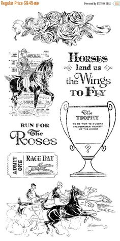 SALE PREORDER Graphic 45 Off to the Races Stamp Set 2