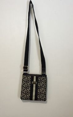 Tommy-Hilfiger-Black-and-White-Crossbody-Messenger-X-Body-Bag-Purse ba678e60254d1