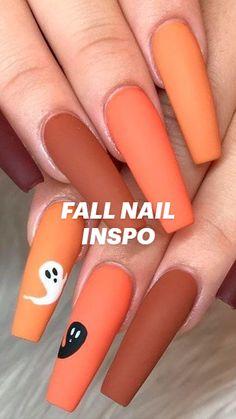 Cute Acrylic Nail Designs, Diy Nail Designs, Cute Acrylic Nails, Simple Fall Nails, Sexy Nails, Cute Casual Outfits, Christmas Wallpaper, Fall Trends, Nail Inspo