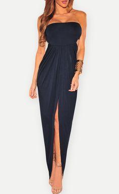 $32.99 Draped Hollow-out Maxi Dress