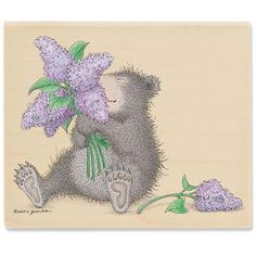 """Gruffies - Lilac Bouquet"" from House-Mouse Designs® (KR1050)"