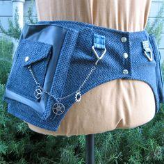 Steampunk costume  steampunk toolbelt  blue by bluemoonkatherine, $95.00