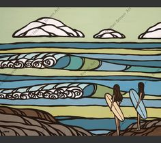 18c6f217fa South Point. Heather Brown ArtHawaii SurfCanvas Art PrintsSurfer GirlsNorth  Shore OahuSurf ...