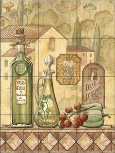 Tuscany III by Charlene Audrey - Kitchen Backsplash / Bathroom wall Tile Mural Tile Mural Store-Kitchen,http://www.amazon.com/dp/B00A5TCMQQ/ref=cm_sw_r_pi_dp_GY7Tsb1BCXTNRADP