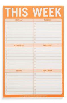 Knock Knock 'This Week' Note Pad | Nordstrom