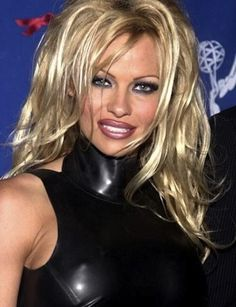 Pamela Anderson latex dress.