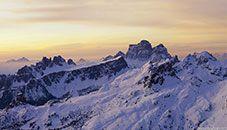 Dolomitas al amanecer (Italia)
