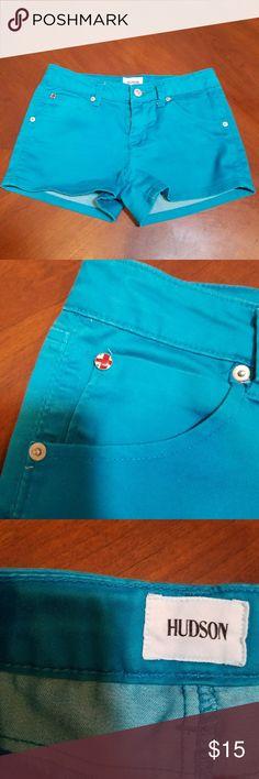 "Hudson Girls Turquoise Blue Shorts size 16 Hudson Girls Turquoise Blue Shorts size 16. Zip and button fly. Approx 27"" waist Hudson Jeans Bottoms Shorts"