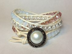 Vintage Rose Swarovski Crystal Triple Wrap by DesignsByJen1,