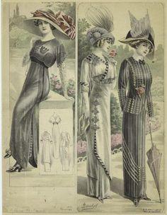 1910 - ensembles de sortie
