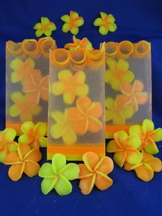 soap flowers yellow