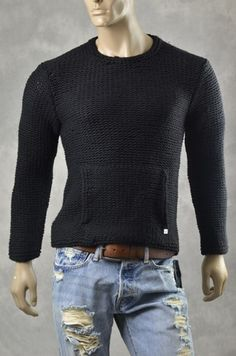 Mouse over image to zoom    Have one to sell? Sell it yourself  New ARMANI EXCHANGE A/X Mens SWEATERS Chunky Knit Sweater Pullover Jumper Sz S