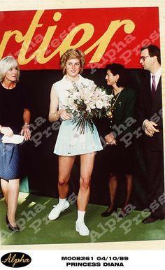 October 4 1989 Diana at Vanderbilt Racquet Club, London