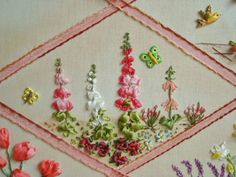 Ribbon Embroidery, Embroidery Designs, Dashboards, Step By Step, Needlepoint