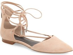 KENDALL + KYLIE 'Sage' Pointy Toe Ghillie Flat