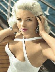 Luscious whites | www.myLusciousLife.com - Diana Dors, 1950s.