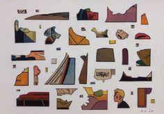 ray yoshida artist | Would make a great #puzzle. (Ray Yoshida) URGH! 2003 #collage on paper ...