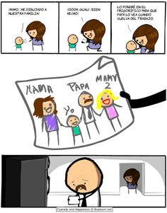 He dibujado a nuestra familia. #humor #risa #graciosas #chistosas #divertidas