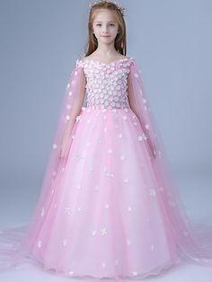 b7574c1ae Stereo Applique V-Neck Sleeveless Party Tulle Long Dress