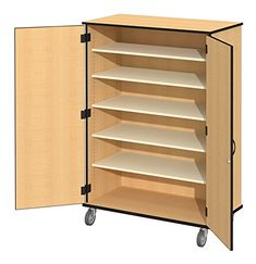 Fleetwood 97.1183.101.000-fsnmple Encore Storage Cabinet with Non-Locking Doors/Non-Locking Casters in Fusion Maple Laminate