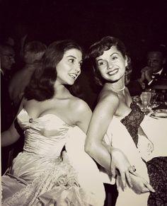 vintagebreeze: Pier Angeli and Debbie Reynolds posing for the photographer. c. 1950's