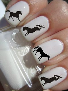 Silhouette Horse Nail Decals by PineGalaxy on Etsy, $4.50