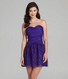Hailey Logan Strapless Ruched Dress #Dillards #8thgradeformal ...