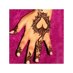10 Most Loved Heart Henna Designs ❤ liked on Polyvore