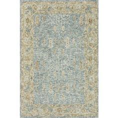Hand-hooked Traditional Blue/ Gold Mosaic Wool Rug (3'6 x 5'6) - Free Shipping Today - Overstock - 26377697