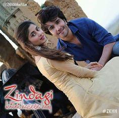 Feroze and Sajal aly's film 'Zindagi kitni haseen hai' poster