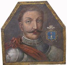 Portret trumienny mężczyzny z herbem Sas.