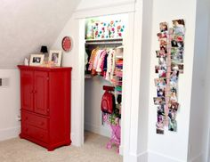 nora's new closet: closet and armoire for toddler clothes storage