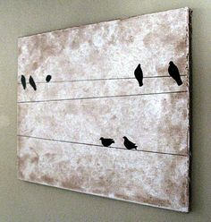 DIY art project.  I would use different colors but its a cute idea.