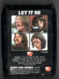 The Beatles - 8 Track - Black Casing 1970  Apple Records  2 Apples on front ART 8001  Condition - Good - wrinkled label  FREE SHIPPING