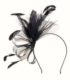 1c5d388d Fascinator Netting Feather Headband Melbourne Cup Races Wedding hair  accessories