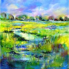 Water Meadow Print By Sheila Gill. | Greetings Cards | Prints | Gift Wrap