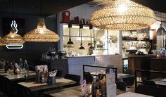 DØGNVILL   Vulkan, Oslo - Foodtech Restaurant Bar, Norway, Wanderlust, Ceiling Lights, Home Decor, Ceiling Lamps, Interior Design, Home Interior Design, Ceiling Fixtures