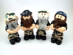 Duck Dynasty Inspired Polymer Clay Duck Hunters by CollisionofClay, $40.00